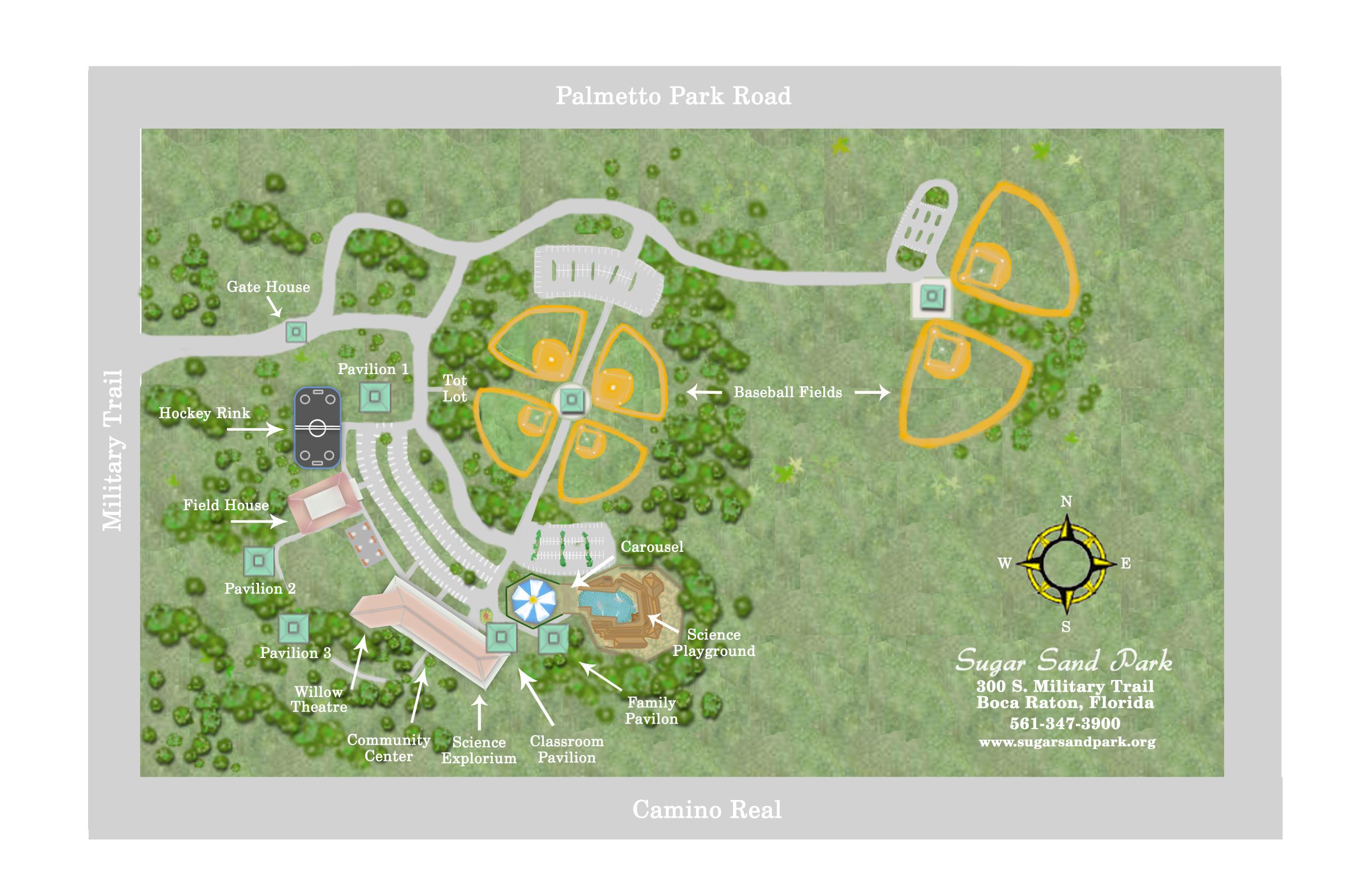 Pavilions map