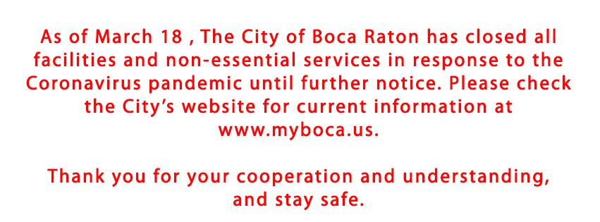 City of Boca Raton facilities closed